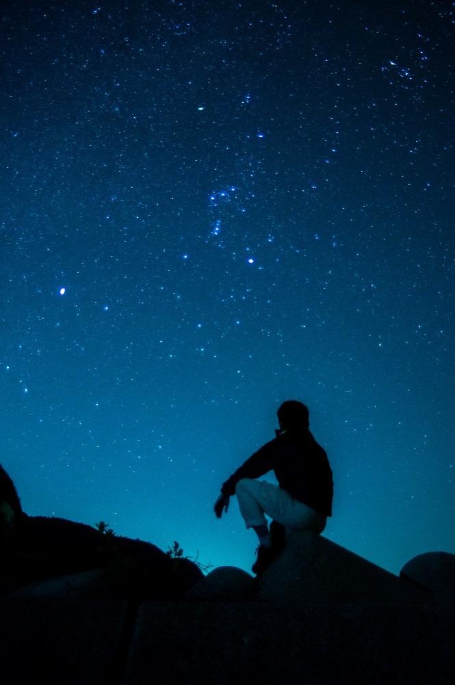 油井の星空